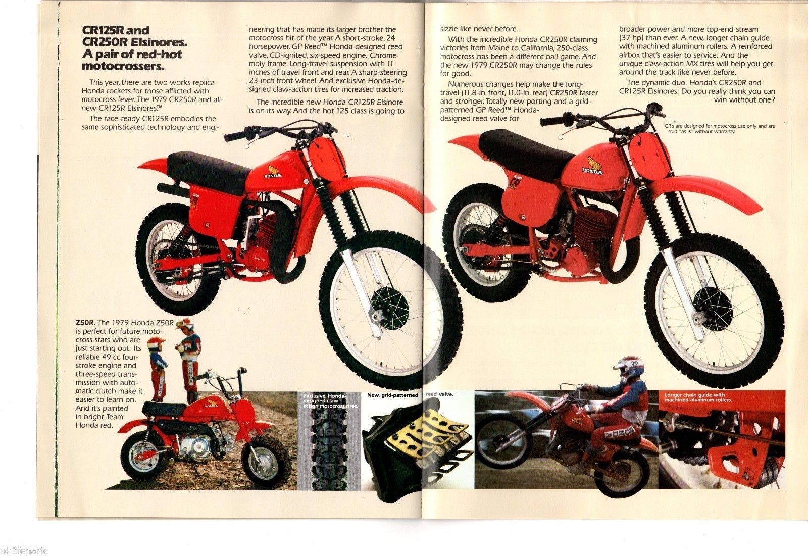 ... 1979 Honda Motorcycle Full Line Up Motorcycle ATC Moped Odyssey Sales  Brochure