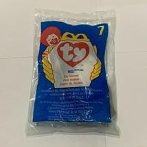NWT 1998 Mcdonalds TY Beanie Babies Plush Toy # 7 MEL THE GRAY CAT Happy... - $4.94