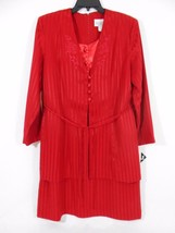 Reina  Blazer/Dress Red One Piece Women's 4 Button Front Jacket Misses-S... - $28.04