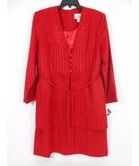 Reina  Blazer/Dress Red One Piece Women's 4 Button Front Jacket Misses-S... - $28.04