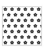 "Nellie's Choice Background Embossing Folder 6""X6"" Flower - EEB001 - $6.92"