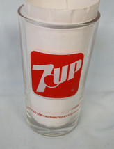 White & Red 7 Up Glass 1970's From Asia Yeo Hipp Seng Glass #2 - $18.70