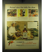 1948 Corby's Whiskey Ad - Frank Buck - Animal stars that stole the show - $14.99