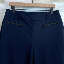 Ann Taylor Curvy Ankle Crop Skinny Trouser Pants Blue Stretch High Rise ... - $27.71
