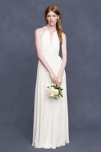 NWT J.Crew Ursula Gown in Ivory Liquid Jersey Grecian Maxi Dress 8 $595 - $82.65