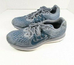 Nike Air Zoom Winflo 5 Mens Running Shoes Slat/Grn /Wht/Blue AA7406-403 ... - $41.73