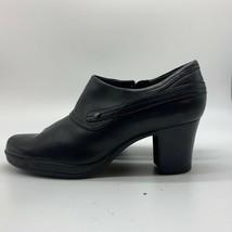 Clarks Comfort career Women Black Booties Ankle Boots Heels Shoe,Size 8.5 M - $27.72