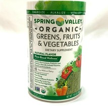 Spring Valley Organic Greens, Fruits and Vegetables Dietary Supplement 0... - $13.58