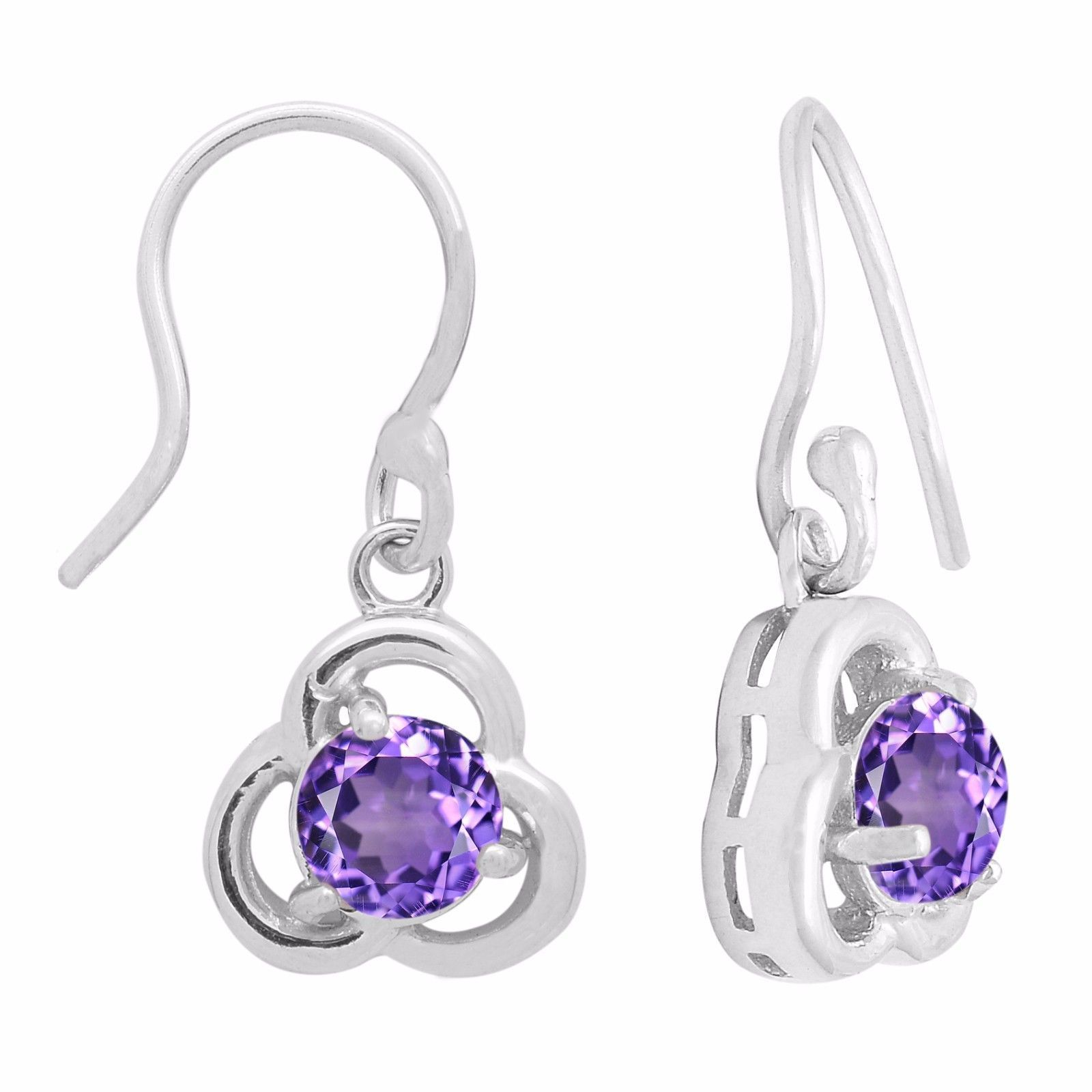 Free Shipping Wonderful Amethyst 925 Sterling Silver Earring Jewelry SHER1070