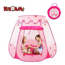 KIDAMI Pop Up Pink Princess Play Tent for Girls, No Assembly Required wi... - $31.61