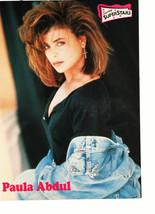 Kirk Cameron Jasmine Guy Paula Abdul teen magazine pinup clipping jean jacket of
