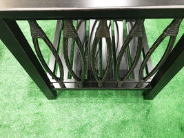 Patio end table Outdoor side accent square aluminum pool furniture. image 3