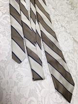 Beautiful, Robert Talbott, Michael David Ltd., Beige and Brown Stripes N... - $9.45