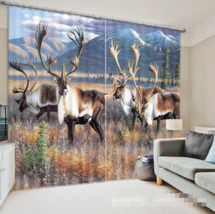 3D Antelope 0219 Blockout Photo Curtain Print Curtains Drapes Fabric Win... - $145.49+