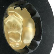 Vtg Western Outback Hat Mens Black Wool Felt Indiana Jones Dorfman Pacific USA  image 9