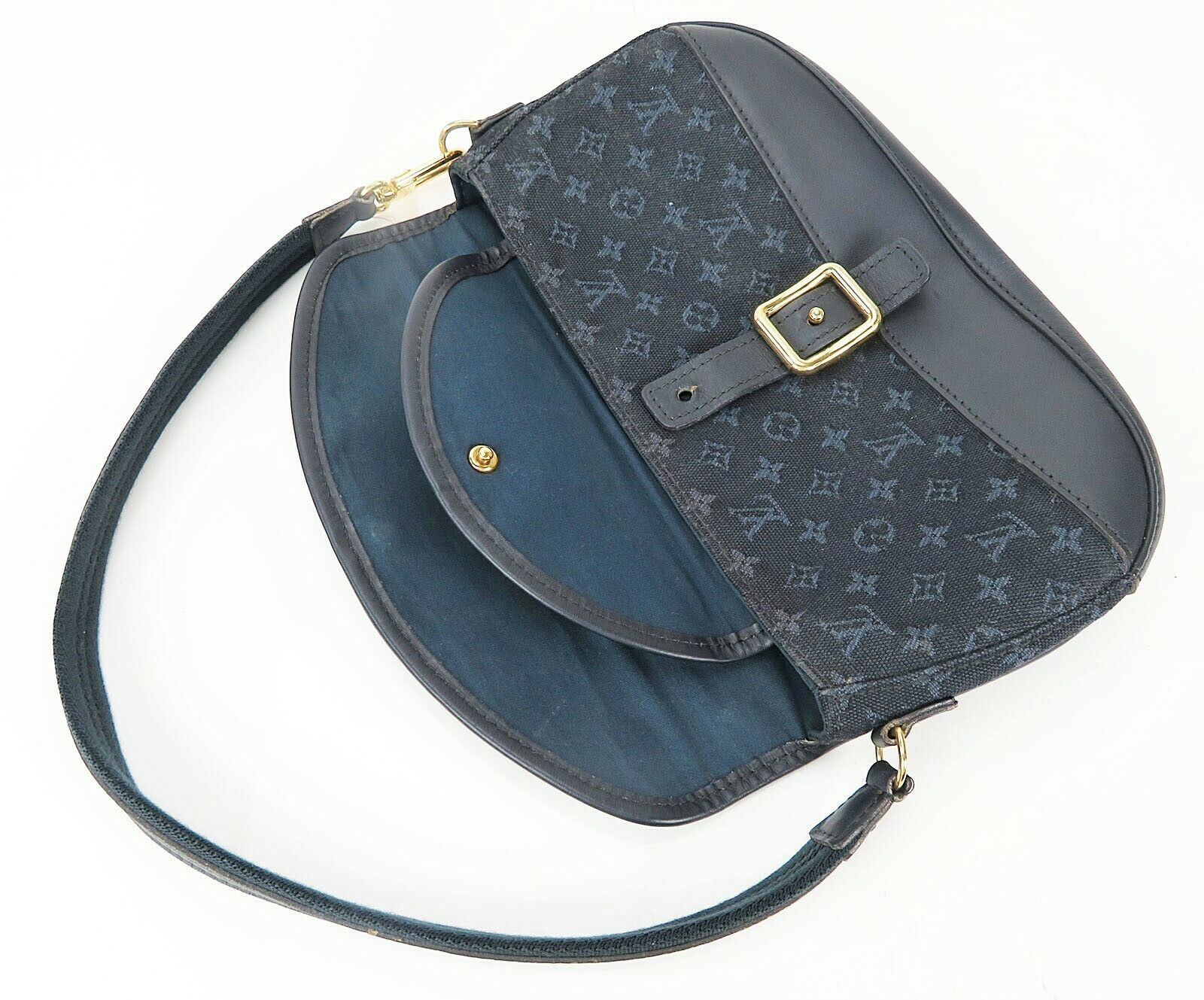Authentic LOUIS VUITTON Marjorie Blue Monogram Mini Lin Shoulder Bag #34709 image 8