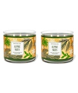Bath & Body Works Alpine Skies 3 Wick Candle - Set of 2- Grapefruit Salt... - $56.99