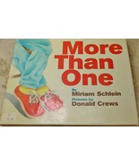 More than One Counting Hardcover HB Book Miriam Schlein - $12.85