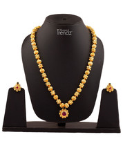 Womens Trendz Traditional, Ethnic and Antique 24K Gold Plated  Necklace and Earr - $52.00