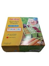 NUBY Garden Fresh Easy Pop Freezer Tray Green first solid up to 9 sized ... - $14.69