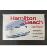 Hamilton Beach Travel Iron with Steamer Model 10090 Compact Storage w/Li... - $25.19