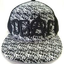 DGAF-Mens Fitted Hat, Size 7 3/4 (64 cm)-Black & Wht DGAF Clothing Logo ... - $23.75