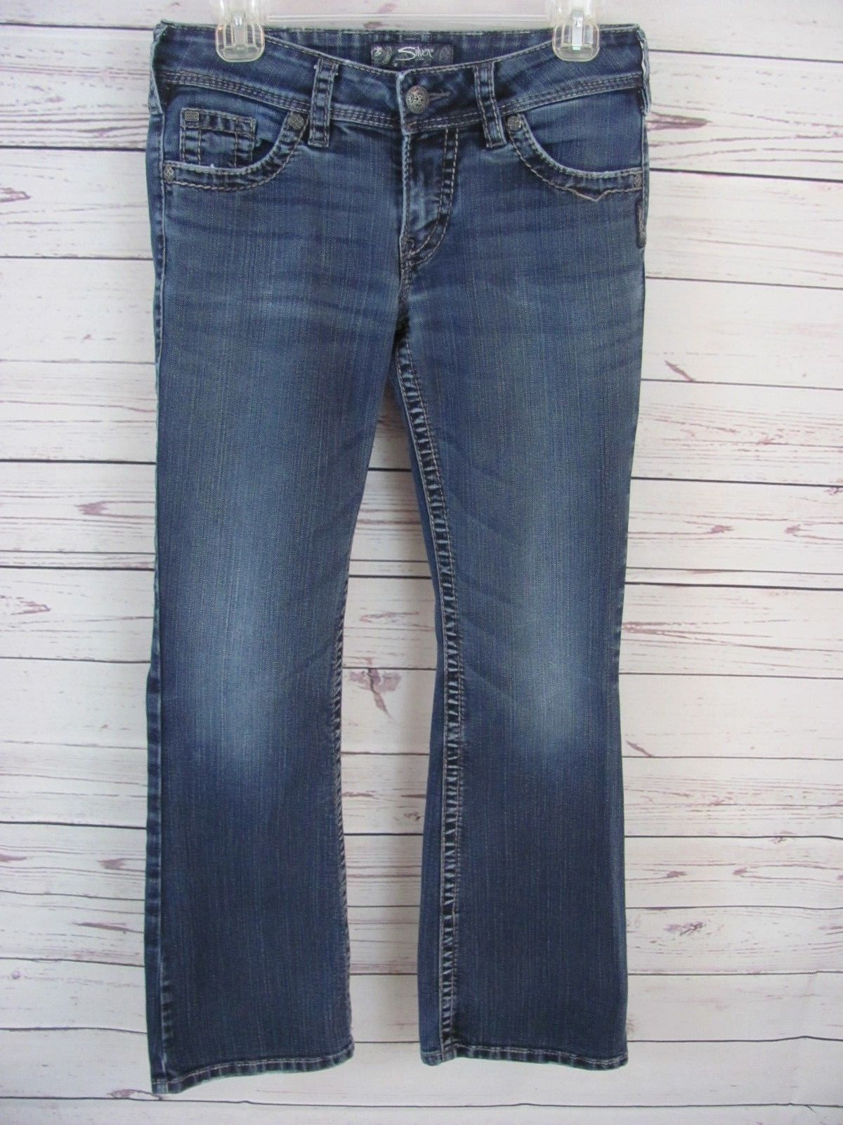 Primary image for Silver Jeans Womens Size 27/30 (28 x 29 Actual) Suki Surplus Bootcut Medium Wash