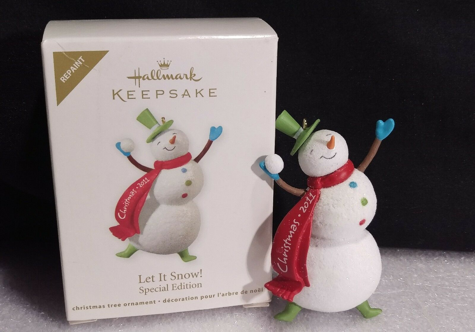 Primary image for Hallmark Let It Snow Keepsake Special Edition Repaint Dated 2011 Snowman