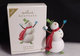 Hallmark Let It Snow Keepsake Special Edition Repaint Dated 2011 Snowman - $14.53