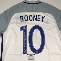 Autographed/Signed WAYNE ROONEY England White Soccer Jersey Beckett BAS COA - $199.99