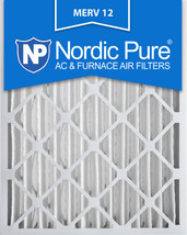 Nordic Pure 20x25x4 (3 5/8) Pleated MERV 12 Air Filters 6 Pack - $115.08