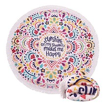 Genovega 22 Options Thick Round Beach Towel Blanket – Cute Funny Large M... - $25.84