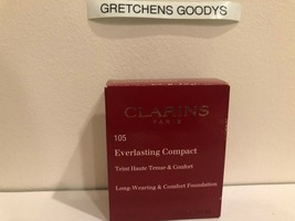 Clarins Everlasting Compact Long Wearing Foundation + #105 Nude NIB .3 oz - $19.79