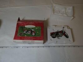 Harley Davidson motorcycle 1957 XL Sportster 2001 Hallmark Keepsake Orna... - $35.62