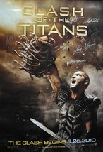 "CLASH Of THE TITANS Cast Signed Movie Poster x8 - S. Worthington +27""x 4... - $589.00"