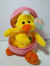 2001 Plushland  American Cancer Baby Harry JR. Chick In Zippered  Egg Pl... - $12.86