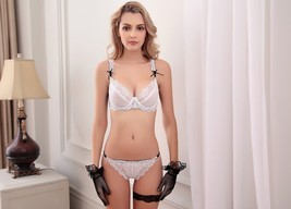 Womens Bra Set Sexy Lingerie Bra And Panty Sets White - $21.99