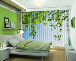 3D Vines Leaves 201 Blockout Photo Curtain Print Curtains Drapes US Lemon - $177.64+