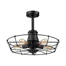 Elk Lighting Glendora 5 Light Semi Flush Mount in Wrought Iron Black - $325.50