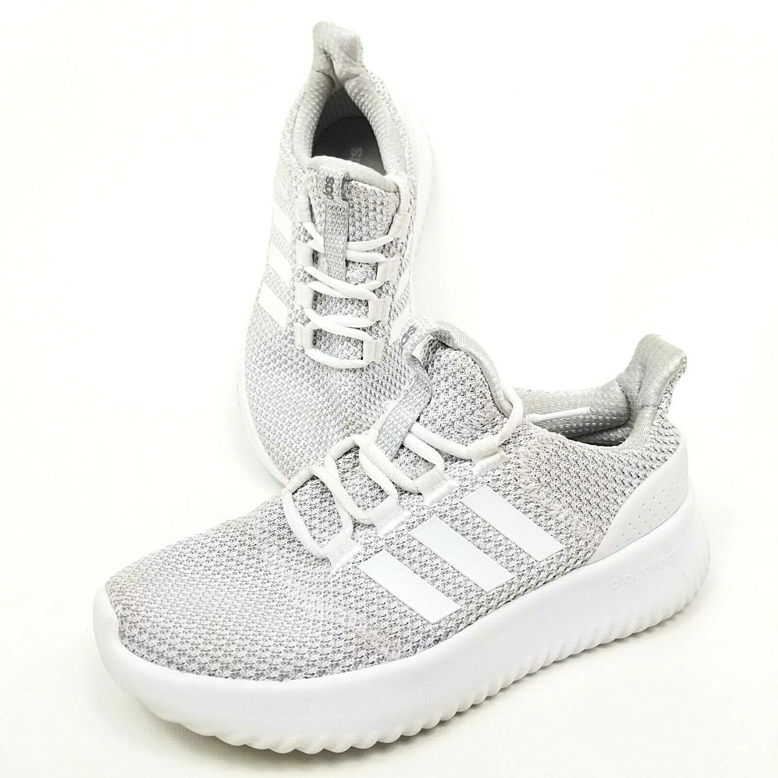 Primary image for Adidas Cloudfoam Ultimate Shoes White Silver Youth Sz 3.5 Womens Size 5.5