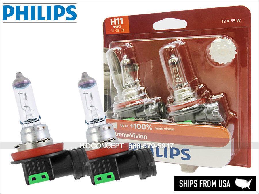 A5 Genuine Philips X-treme Vision 100/% Brighter 9006 XVB2 55W Halogen Bulbs