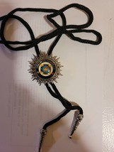 Knights Templar Bolo Necklace Tie - In Hoc Signo Vinces Cross in Crown image 2