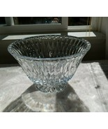 Block Crystal Footed Bowl: Chalet Pattern - $39.69