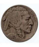 1925-S 5C Buffalo Nickel VF État, Naturel Couleur, Beau 4-Digit Date - $94.31 CAD