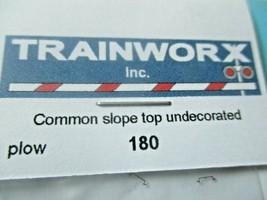 Trainworx Stock #180 Snowplow Common Slope Top Undecorated N-Scale image 2