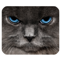 Mouse Pad Beautiful Sexy Black Cat Eyes Animal Collections Fantasy - ₹437.34 INR