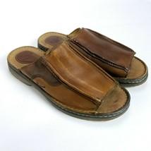 Dr. Martens Mens Leather Sandals Slides Size 12 Brown Slip On - $24.74