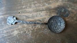Vintage Mexico Mayan Sterling Silver Souvenir Spoon 3 7/8 inches - $34.64