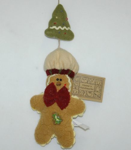 Hannas Handiworks HH27160 Brown Gingerbread Christmas Tree Ornament