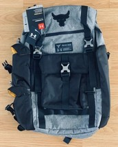 NEW Under Armour Project Rock Backpack UA Regiment Bag Gray Grey Chase Greatness - $113.84